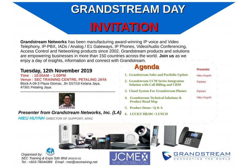 Grandstream Day 12th Nov